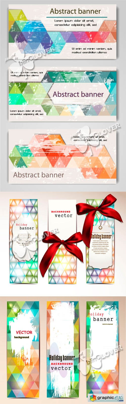 Vector Colorful abstract banners 0462