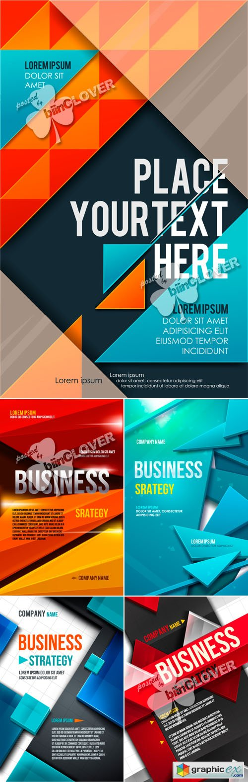 Vector Business square background 0461