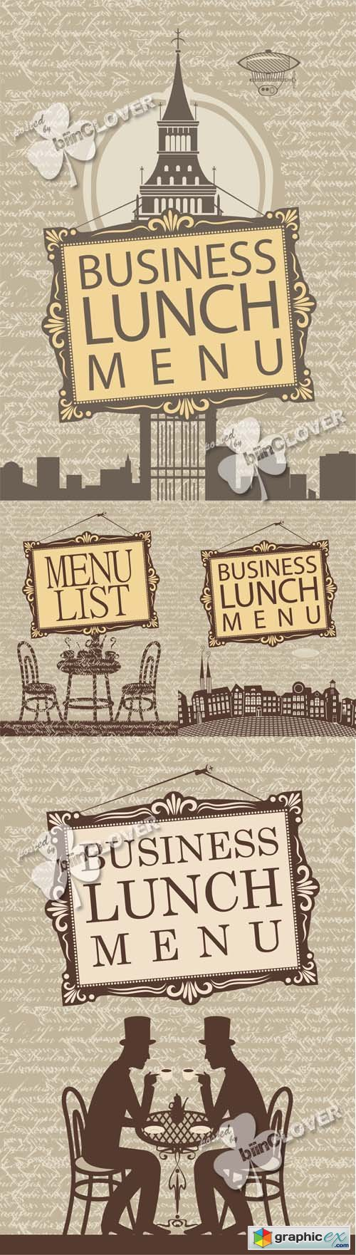 Vector Business lunch menu design 0460