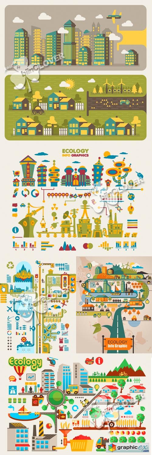 Vector Cartoon infographic design elements 0460