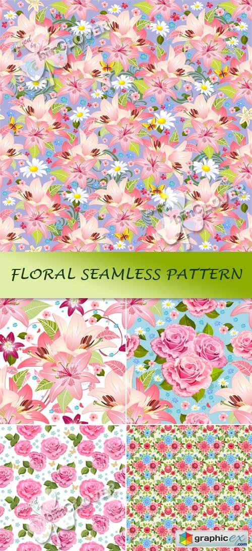 Vector Floral seamless pattern 0456