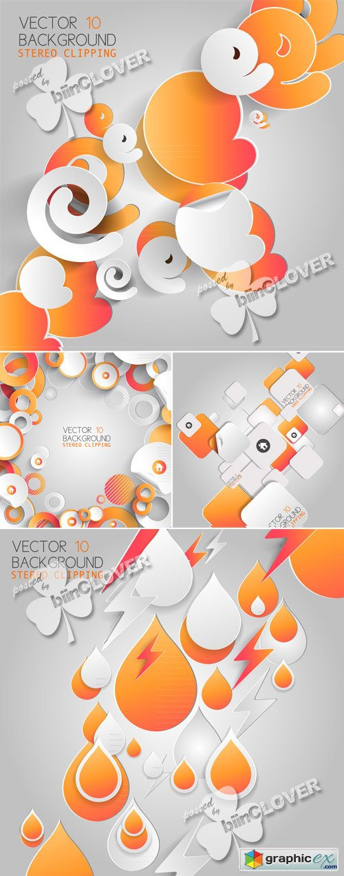 Vector Abstract 3D paper infographic elements 0455