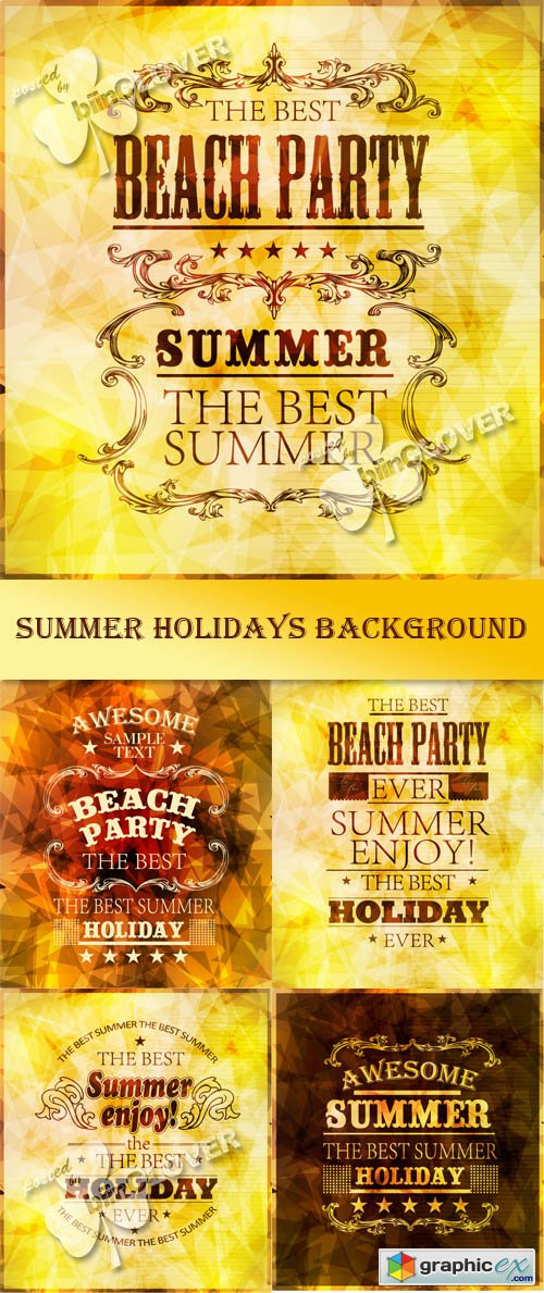 Vector Summer holidays background 0453