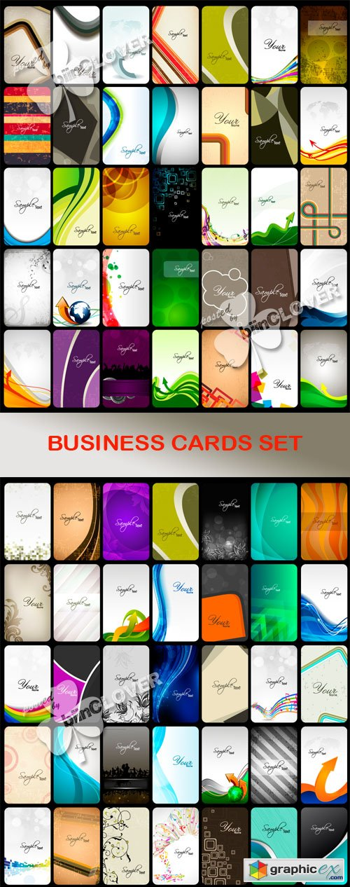Vector Business cards set 0452