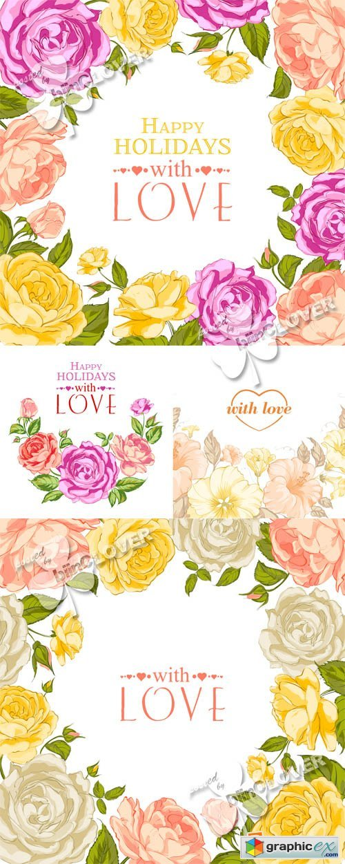 Vector Valentines cards 0553