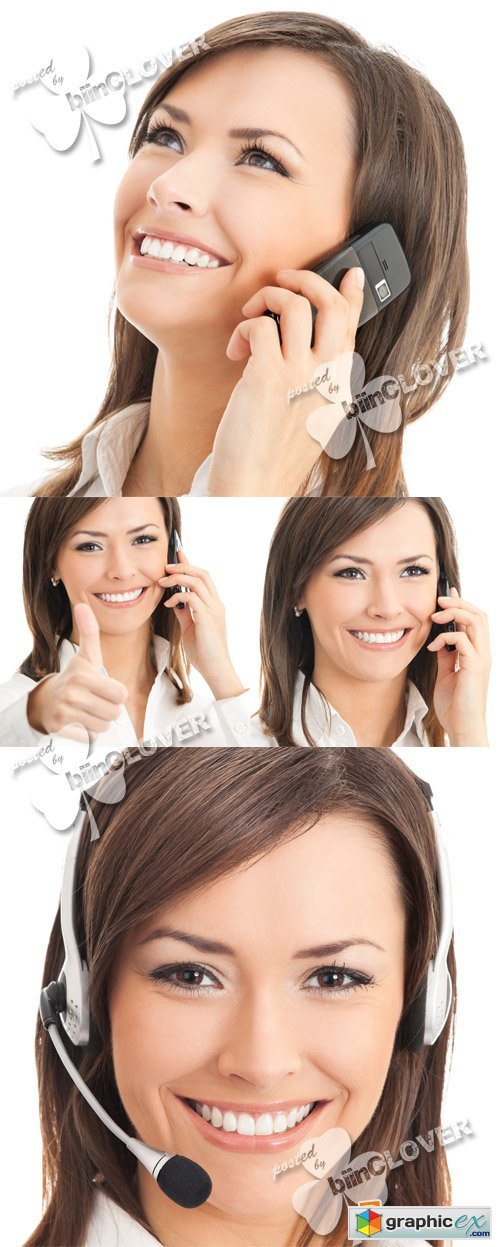 Businesswoman with phone 0553