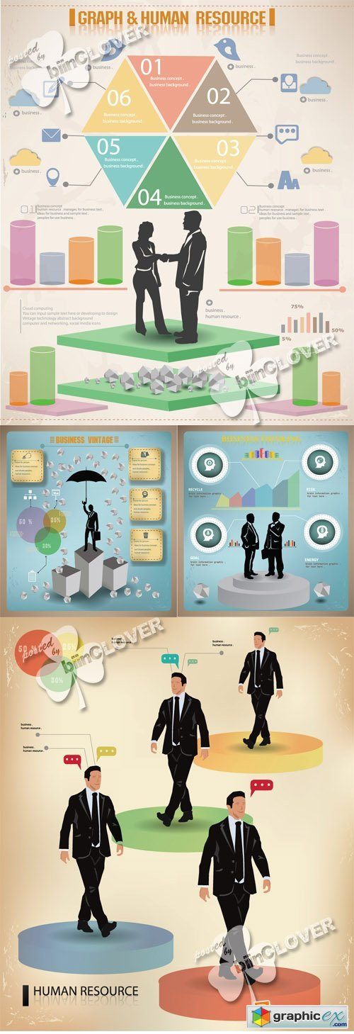 Vector Business graphics design 0553