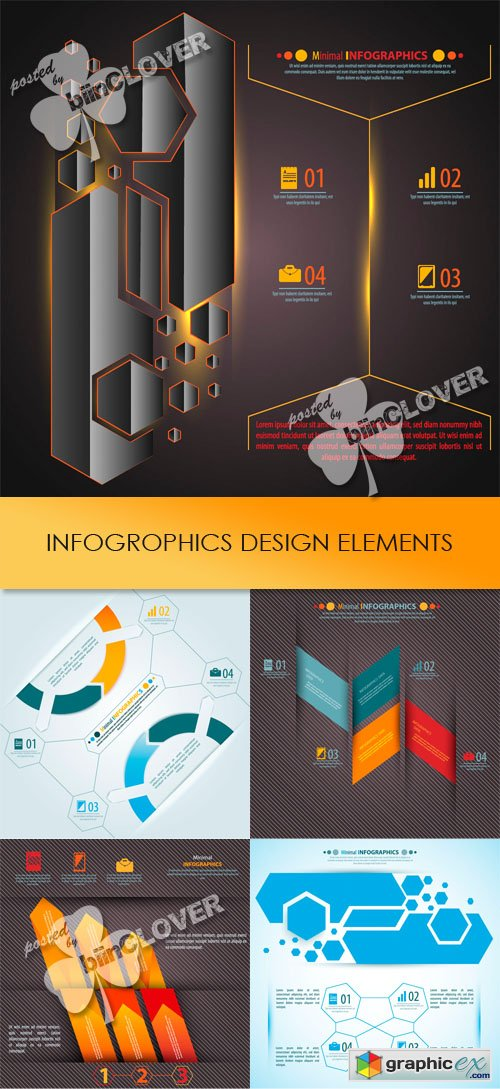 Vector Infographic design elements 0449