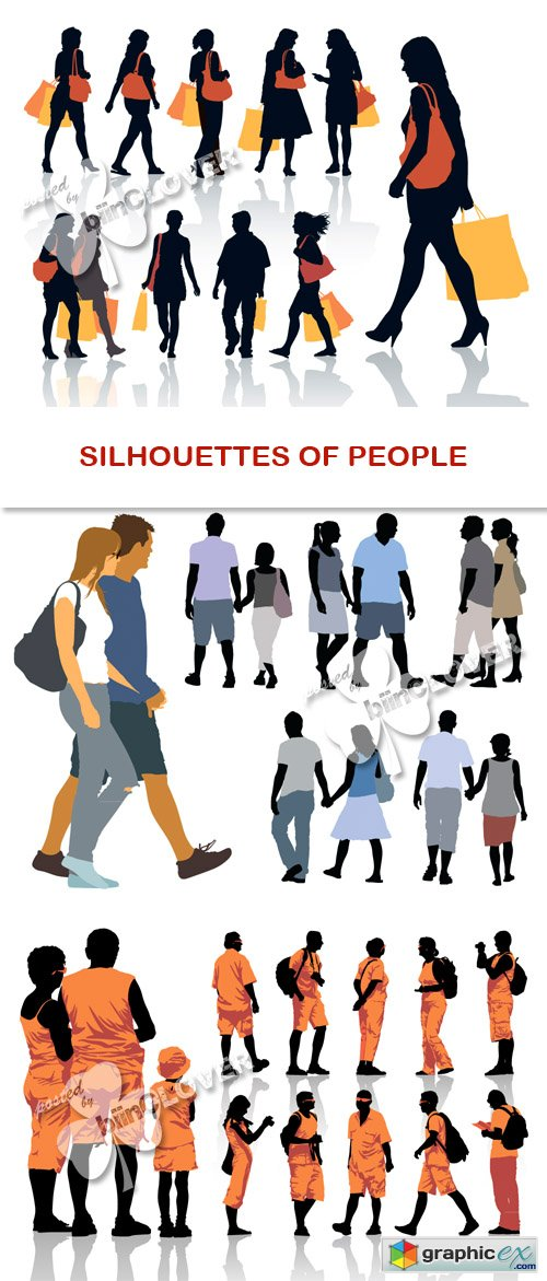 Vector Silhouettes of people 0447