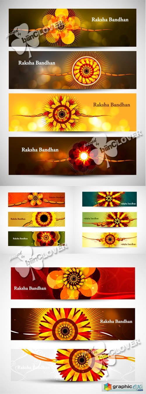 Vector Raksha Bandhan celebration banners 0447