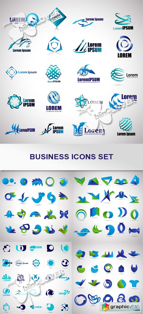 Vector Business icons set 0446
