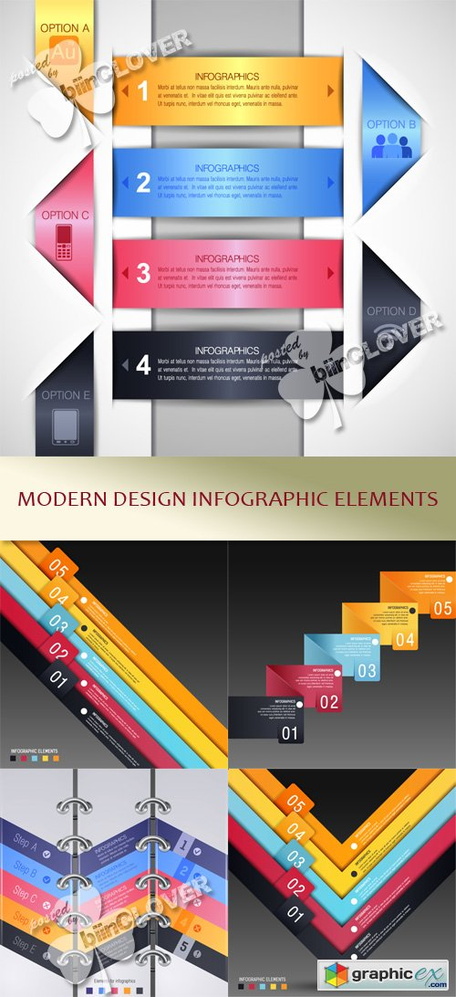 Vector Modern design infographic elements 0446