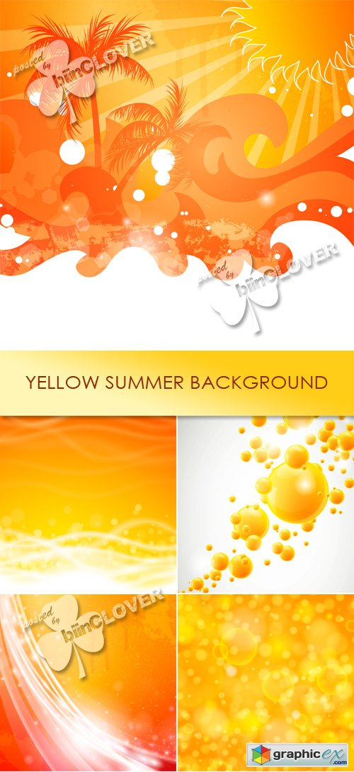 Vector Yellow summer background 0443