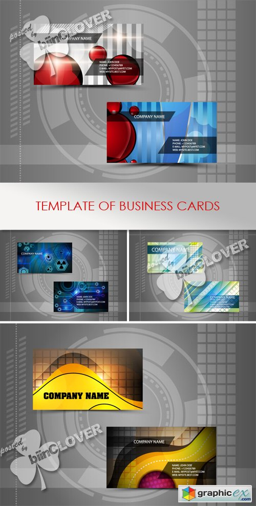 Vector Template of business cards 0435