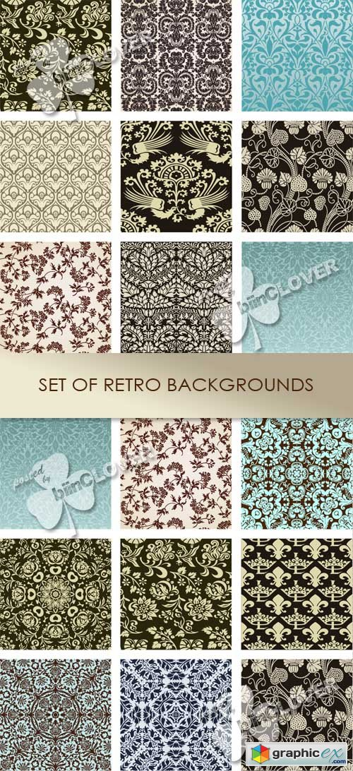 Vector Set of retro backgrounds 0433