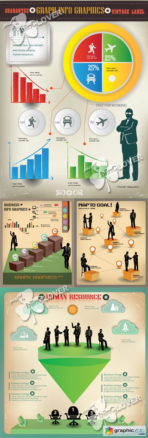 Vector Business and finance infographics elements 0432