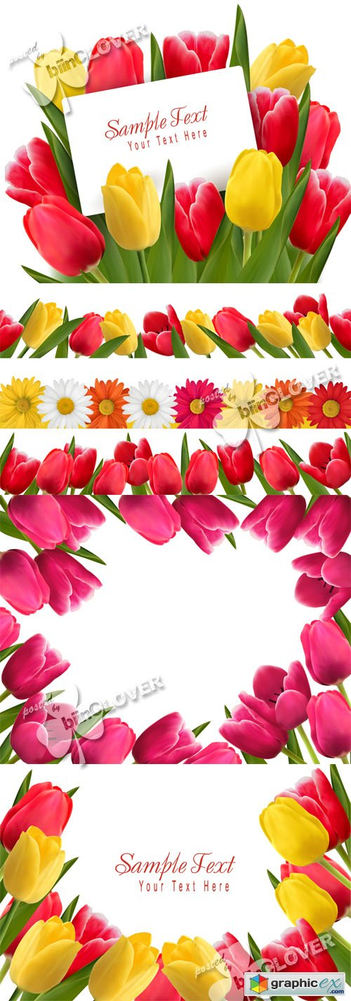 Vector Colorful flower background 0431