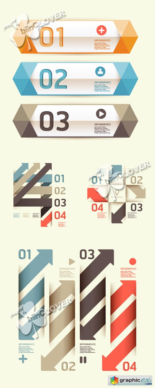 Vector Modern template infographics banners 0428