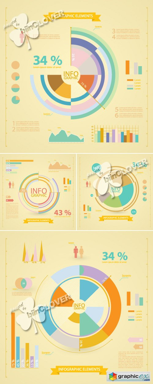 Vector Set of infographic elements 0425
