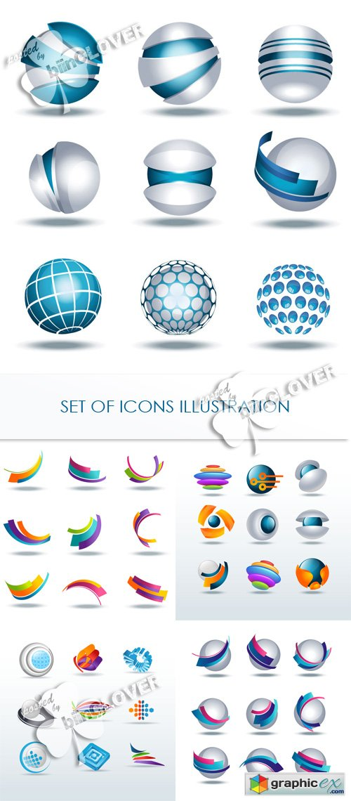 Set of icons illustration 0417