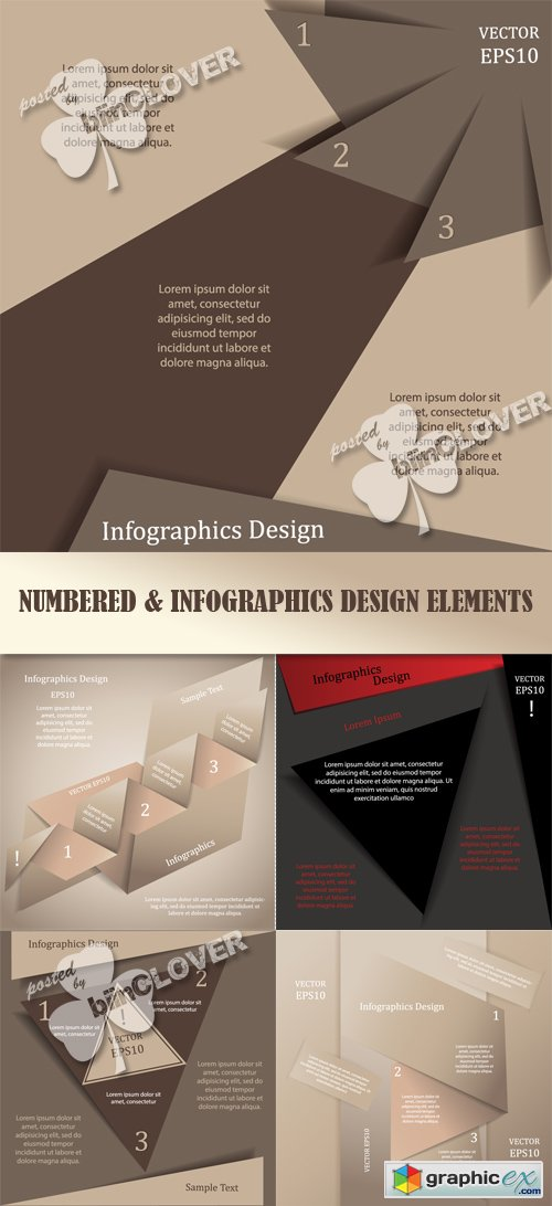 Vector Numbered and infographics design elements