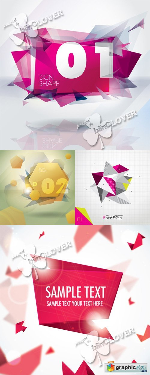Vector Background with sign shape 0555