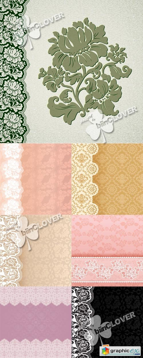 Vector Background with lace 0554