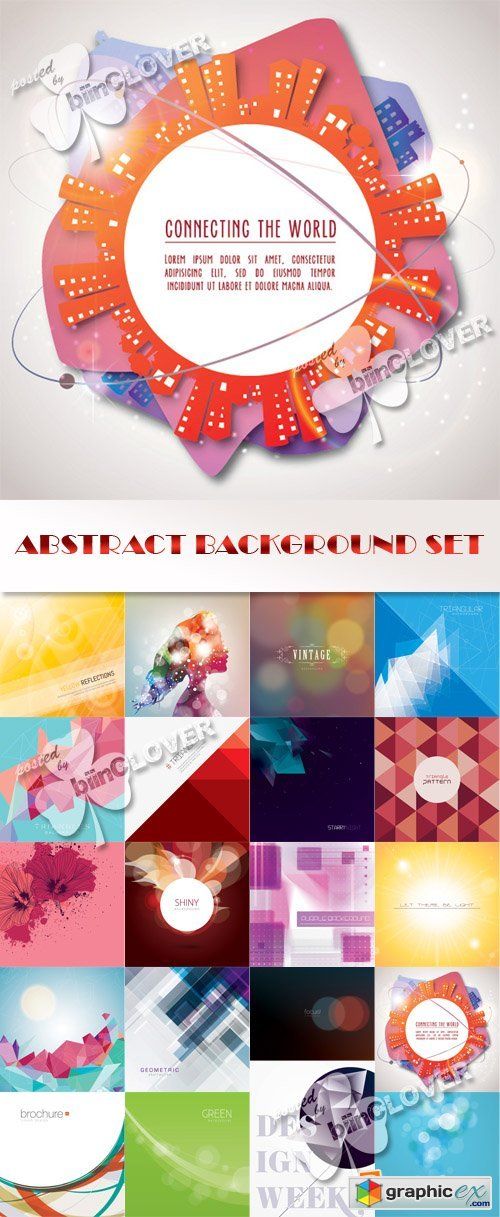 Vector Abstract background set 0554