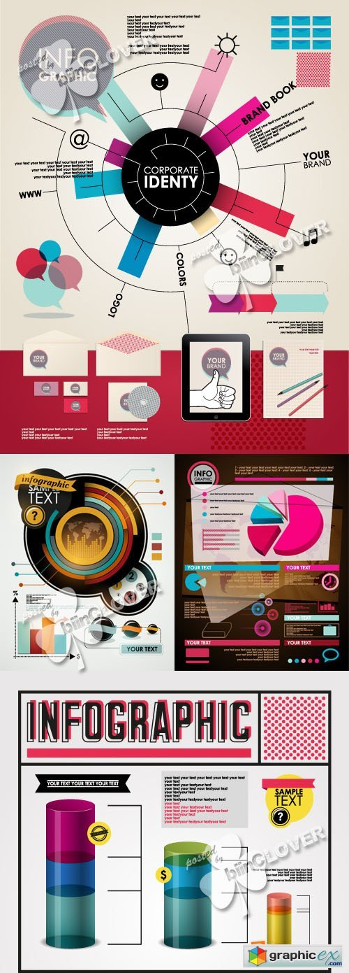 Vector Infographic template illustration 0381