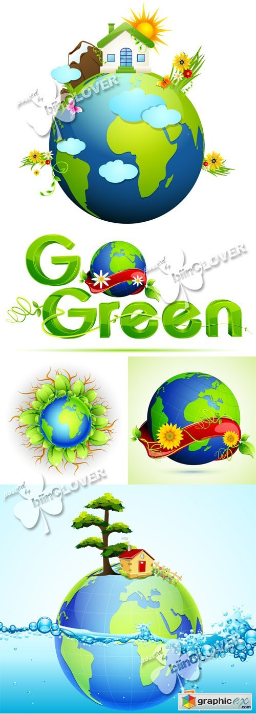 Vector Globe concept illustrations 0379