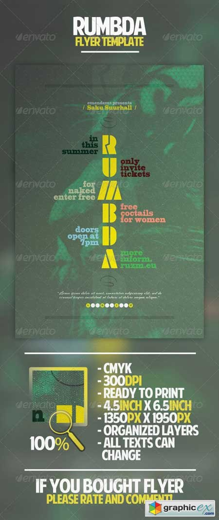 Rumbda Flyer Template
