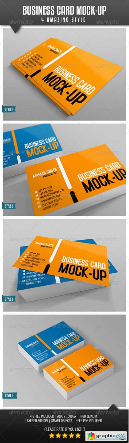 Business Card Mock-Up Vol.2