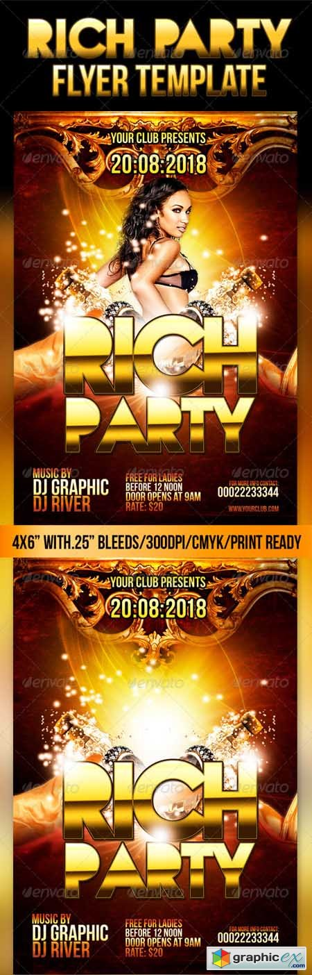 Rich Party Flyer Template