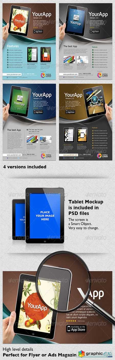 Multipurpose Mobile App Flyer Template