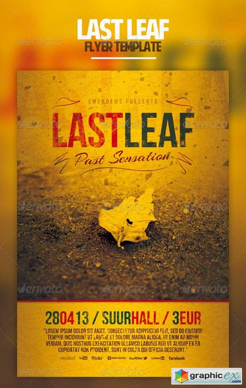 Last Leaf Flyer Tamplate