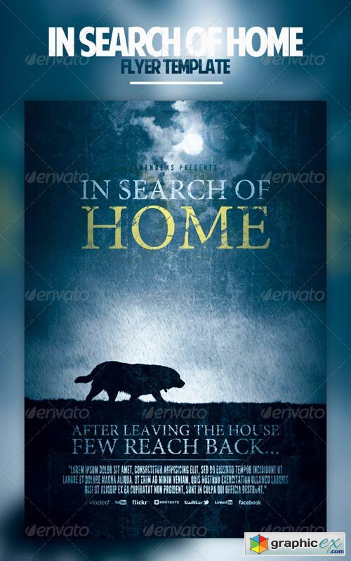 In Search Of Home Flyer Template