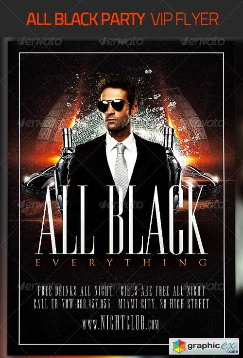 all black party flyer 4455315 free download vector stock image
