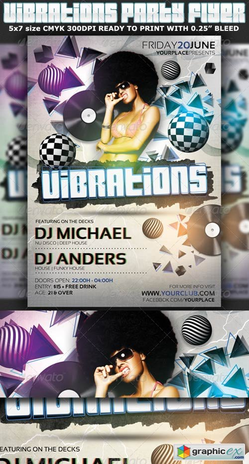 Vibrations Party Flyer Template