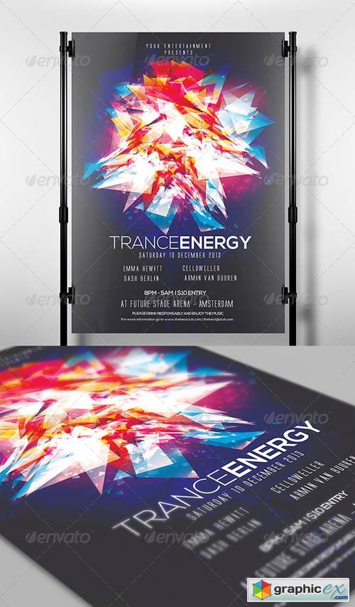 Trance Energy Flyer Template