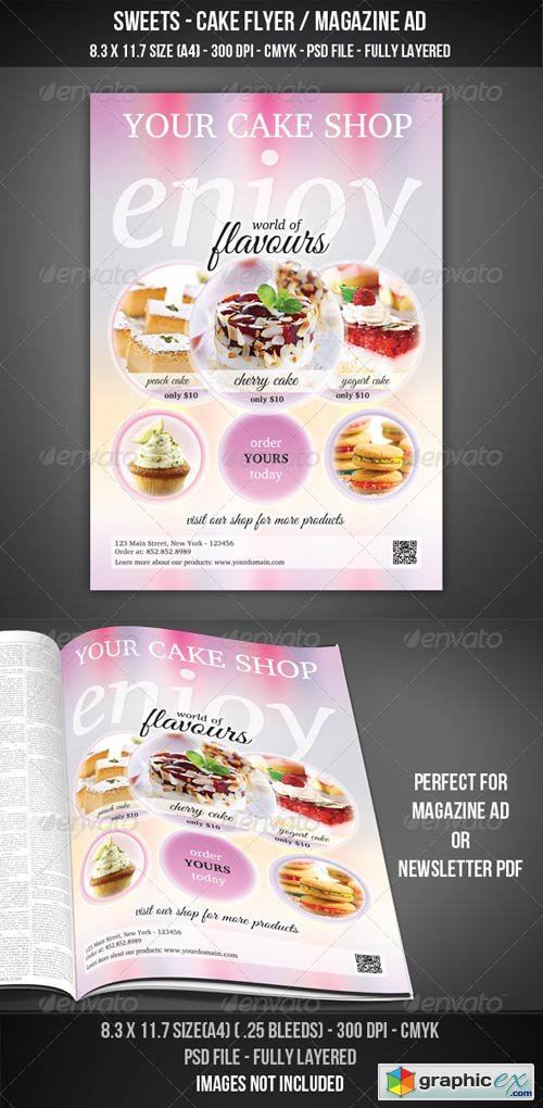Sweets - Cake Flyer / Magazine AD