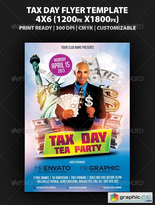 Tax Day Tea Party Flyer Template