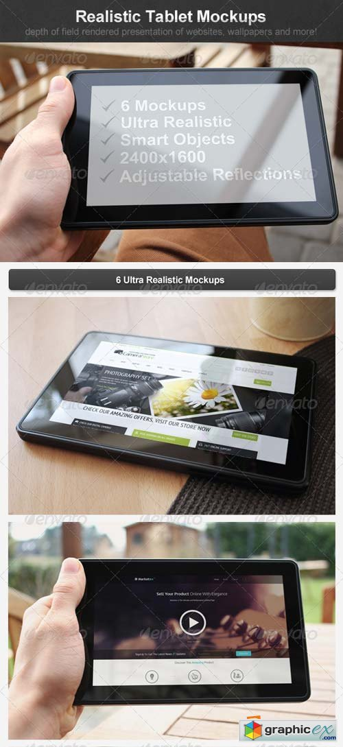 Realistic Tablet Mockups Template