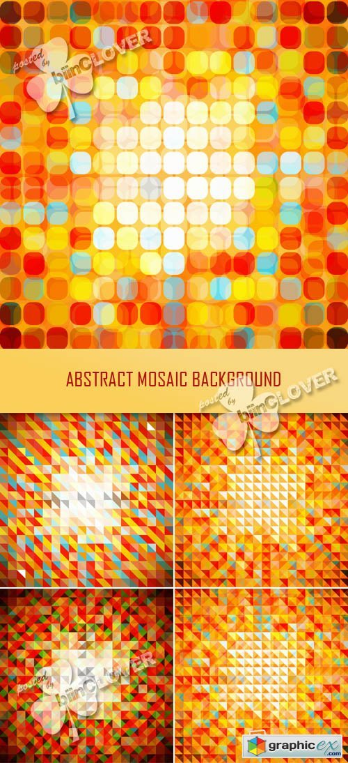 Vector Abstract  mosaic background 0355