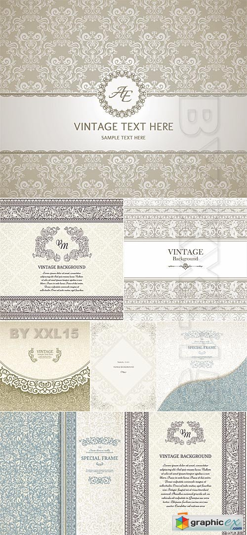 Vector Beige vintage backgrounds