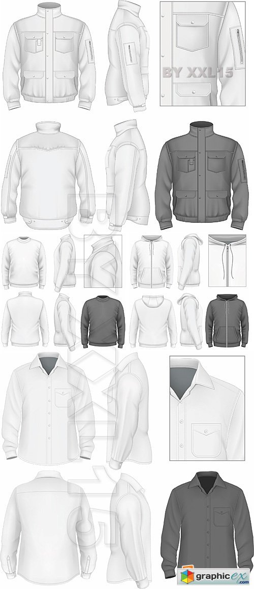 Vector Mens clothes templates
