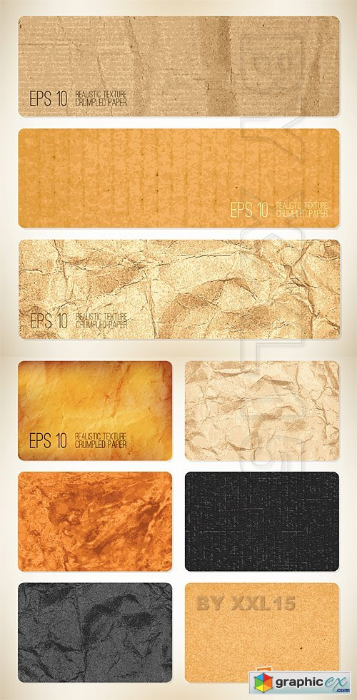Vector Crumpled paper backgrounds
