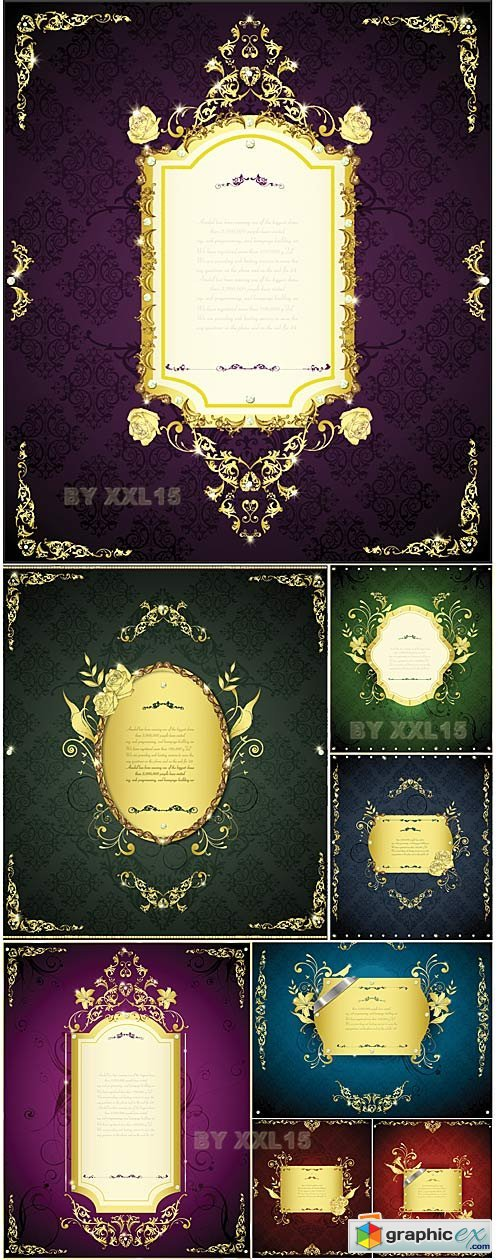 Vector Luxury vintage frames
