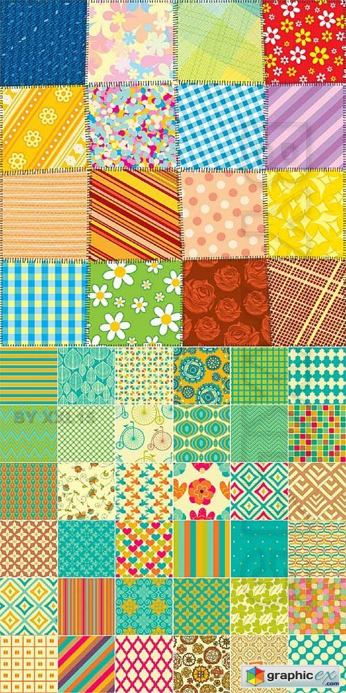 Vector Colorful seamless patterns