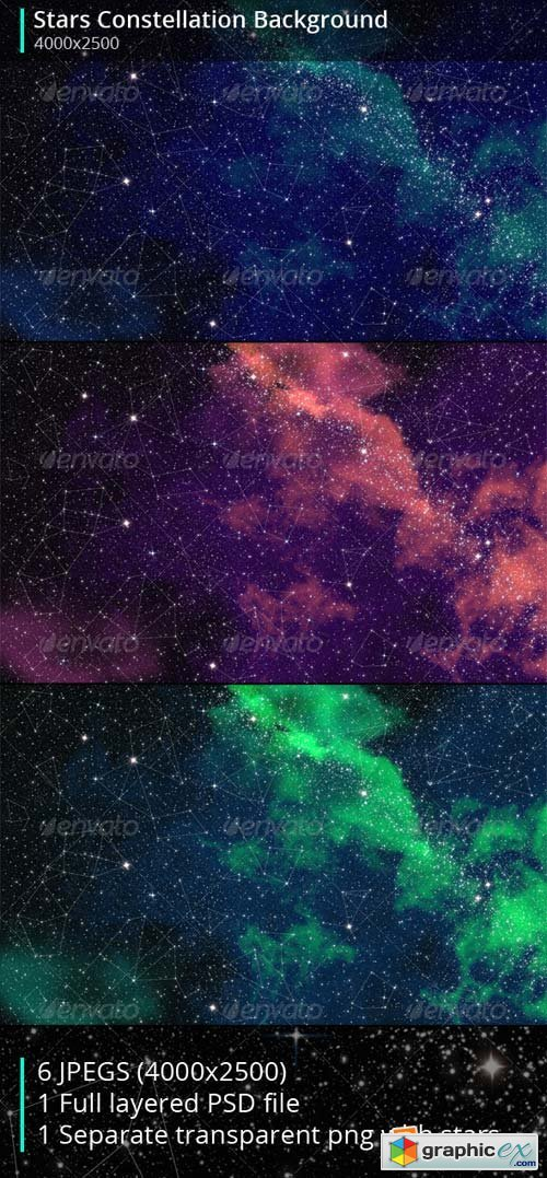 Stars Constellation Backgrounds Template