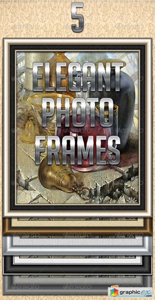 5 Elegant Photo Frames Template